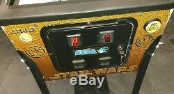 Sega STAR WARS TRILOGY SPECIAL EDITION arcade pinball full working order LEDs