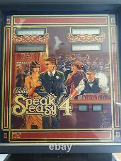 Speakeasy 4 Bally Pinball- Excellent condition