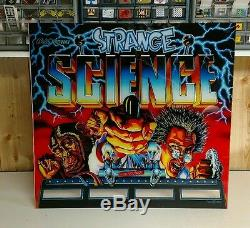 Strange science pinball machine backglass brand new reverse direct UV printed