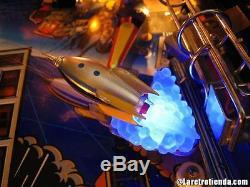 TWILIGHT ZONE PINBALL ROCKET SHIP BLUE BASE pinball flipper machine mod