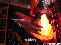 TWILIGHT ZONE PINBALL ROCKET SHIP ORANGE BASE pinball flipper machine mod