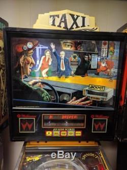 Taxi Pinball Williams Arcade machine. Nice. Free Shipping. Led Kit Installed