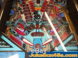 Terminator 2 T2 Pinball Machine Judgment Day Stunning Warrantied