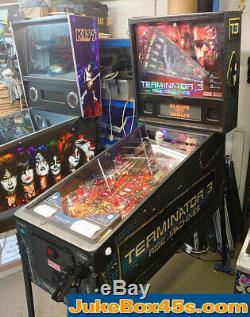 Terminator 3 Pinball Machine Movie Memorabilia- Stunning Warrantied