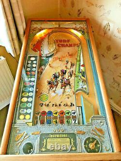 Turf Champs 1936 Vintage Pinball Penny Arcade Machine Rare & Collectable