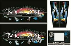 Twilight Zone Pinball Machine CABINET Decal Set