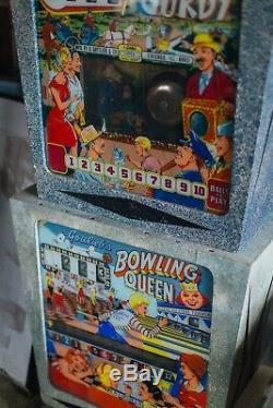 Two Vintage Gottlieb Pinball Machine tops