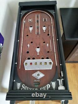 VINTAGE 1933 Genco Pinball machanical 6d penny silver cup Machine Bally williams
