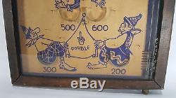Vintage 1930's CLOWNIN Wooden Pinball Arcade Game St Louis, Missouri