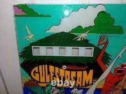 Vintage 1972 1973 Williams Gulfstream Pinball Machine Backglass