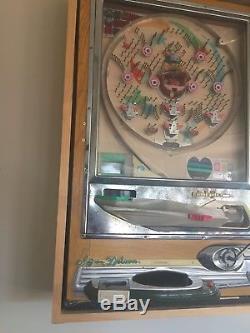 Vintage 1976 Nishijin Super Deluxe Pachinko/Pinball Machine Custom Frame + Balls