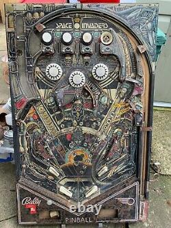 Vintage 1980 Space Invaders Pinball Machines Bally Playfield Playing Deck Only