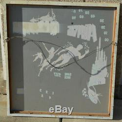 Vintage ATLANTIS Pinball Machine Glass Original Gottlieb 1974 Framed