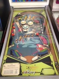 Vintage Bally Minizag pinball machine man cave 1969