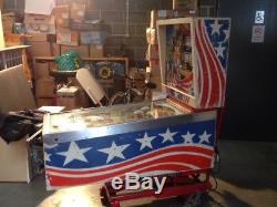 Vintage Gottlieb Pinball Machine 1976 Pioneer (spirit Of 76) USA Arcade