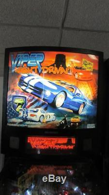 Viper Night Drivin' Pinball Stern Arcade Machine. LED Bulbs Installed. Free Ship