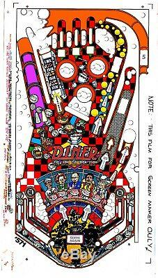 WILLIAMS DINER Pinball Machine Playfield Overlay