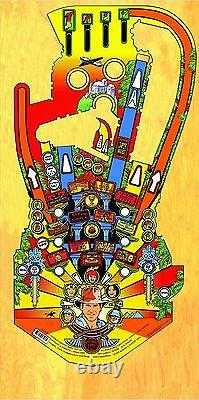 WILLIAMS INDIANA JONES Pinball Machine Playfield Overlay
