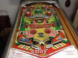 WILLIAMS PIN BALL MACHINE COQUETTE 1962 Two player Spares or Repair