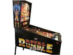 WWF Royal Rumble Pinball Table Arcade Machine Ready to Play Game Room WWE