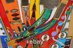 William's FUNHOUSE PINBALL MACHINE PLAYFIELD USED with OVERLAY