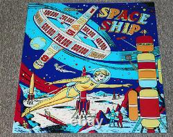 Williams 1961 SPACE SHIP Pinball Machine Replacement BACKGLASS OUTER SPACE