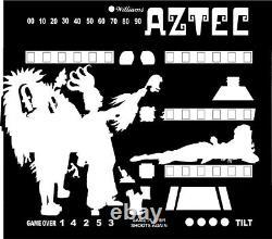 Williams AZTEC Pinball Machine Translite backglass
