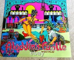 Williams Aladdin's Castle Pinball Machine Translite Backglass