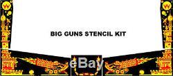 Williams BIG GUNS Pinball Machine Stencil Kit