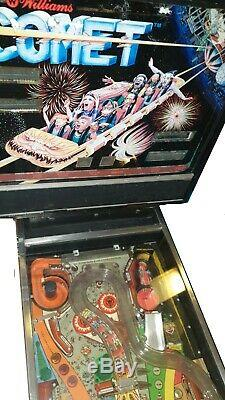 Williams Comet Pin Ball Machine 1985 Rare- Used and in need of service/ refurb