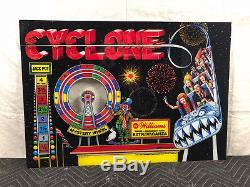 Williams Cyclone Pinball Machine Game Backglass NOS Original not Repro