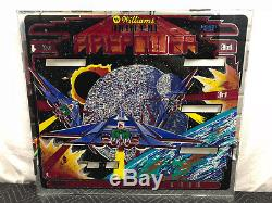 Williams Firepower Pinball Machine Game Backglass 2