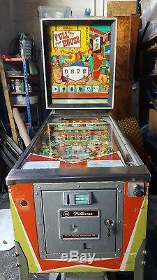 Williams Full House Pinball Machine 1966 Great Condition