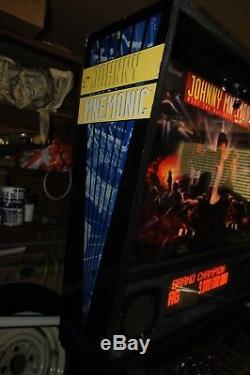 Williams Johnny Mnemonic Pinball Machine 100% Working