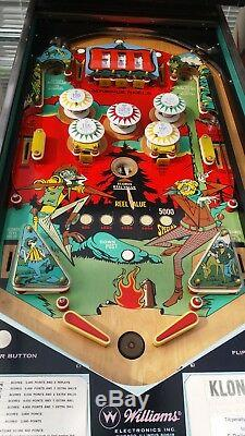 Williams Klondike Pinball Machine 1971 Refurbished Electro Mechanical
