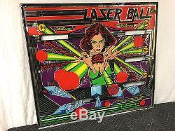Williams Laser Ball Pinball Machine Game Backglass Original not Repro