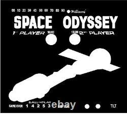 Williams Space Odyssey Pinball Machine Translite Backglass