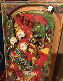 Williams Tri Zone Pinball Machine Used Populated Playfield. Wall Hanger / Parts