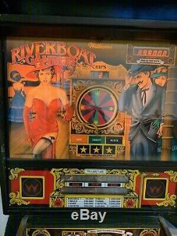 Williams riverboat gambler pinball machine RARE 1990