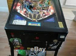 Wwf Wwe Royal Rumble Pinball Arcade Machine Cabinet! Working But Some Problems
