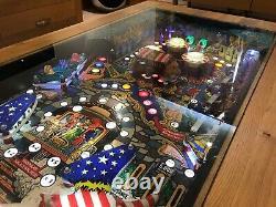 Zaccaria LocoMotion Pinball Machine Coffee Table Oak Table 1981 Play Field