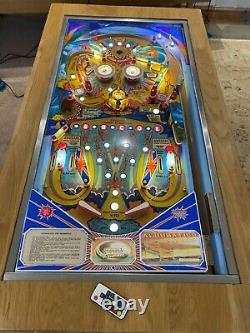 Zaccaria aerobatics Pinball Machine Coffee Table Oak Table 1981 Play Field
